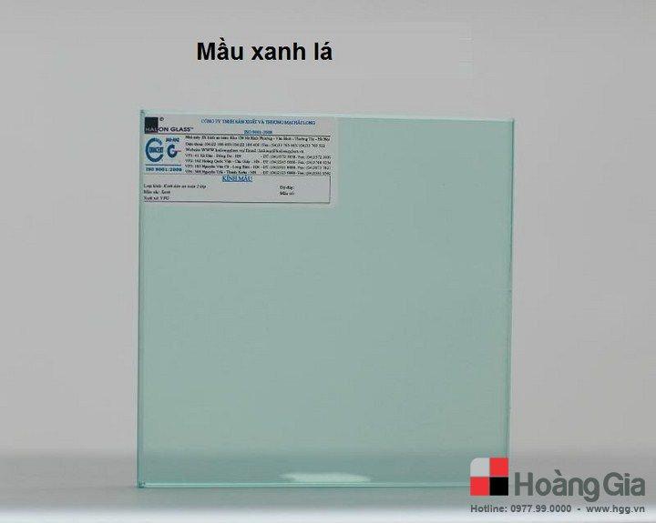 Kính mặt bàn màu xanh lá