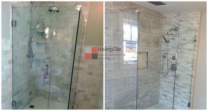 Phòng tắm kính cửa đẩy