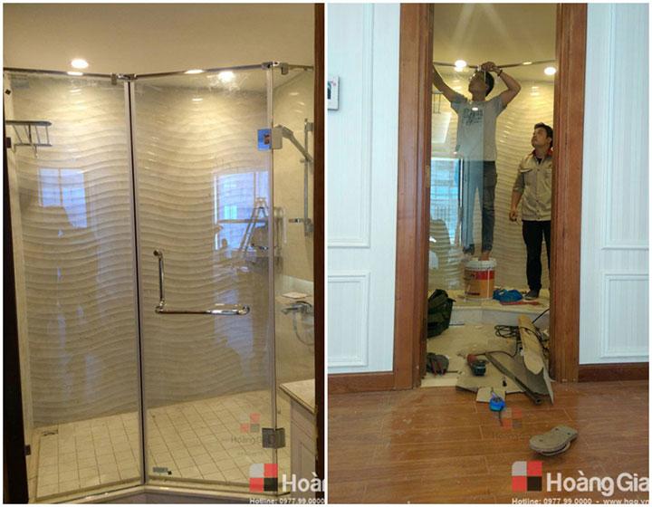 Thi công kính cabin tắm 135 Vinhome Nguyễn Chí Thanh