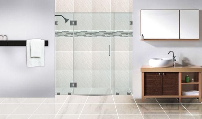 Vách tắm kính nhà vệ sinh dùng kính cường lực bao nhiêu