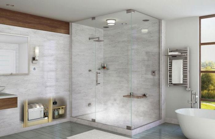 Vách kính buồng tắm sẽ luôn sáng bóng nếu được vệ sinh đúng cách